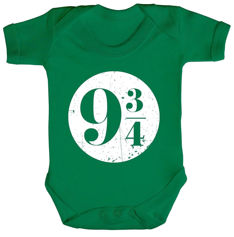 ShirtStreet Strampler Bio Baumwoll Baby Body kurzarm Jungen Mädchen Kreis Harry 9 3/4