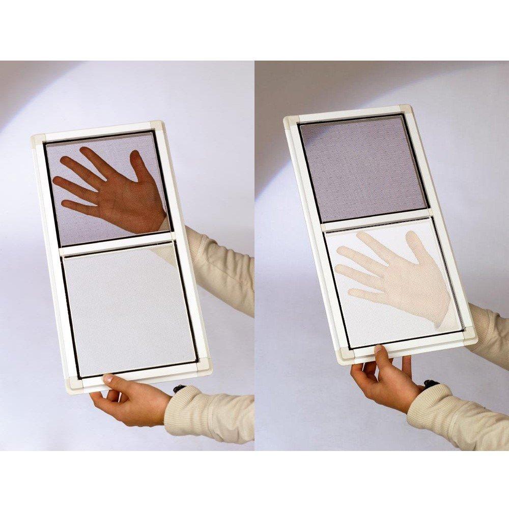 PROHEIM Fliegengitter f/ür Fenster Fliegennetz aus Polyester mit 5,6 m Klettband Moskitonetz durchsichtig und individuell k/ürzbar Farbe:Anthrazit Gr/ö/ße:110 x 130 cm in wei/ß oder anthrazit