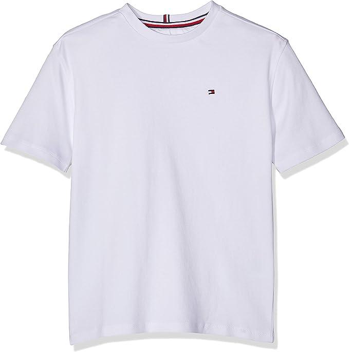 Tommy Hilfiger Boxy Back Print tee S/s Camiseta, Blanco (Bright White 123), 128 (Talla del Fabricante: 8) para Niños: Amazon.es: Ropa y accesorios
