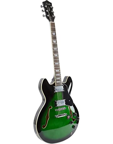 Firefly FF338 Semi Hollowbody Guitar (Green Burst)