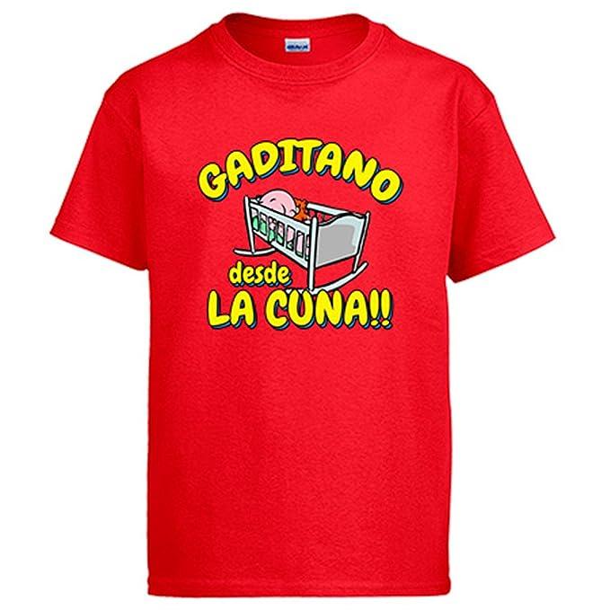 Camiseta Gaditano desde la cuna Cádiz fútbol: Amazon.es: Ropa y accesorios