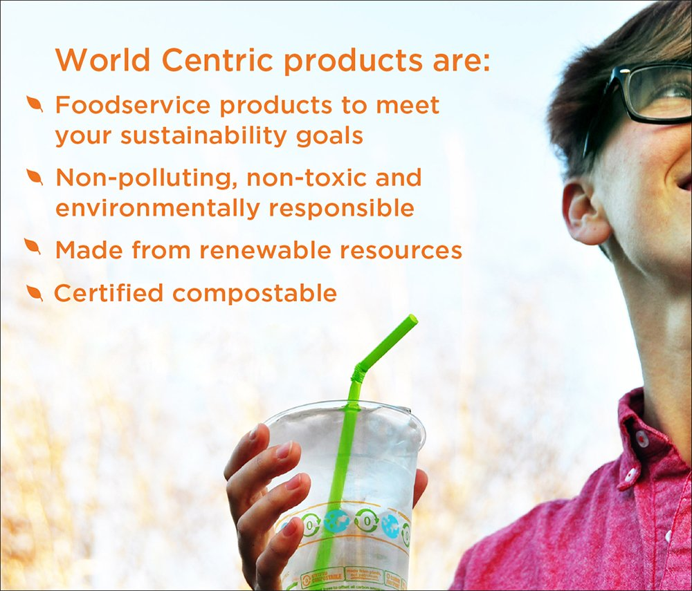 World Centric CP-CS-9 100% Compostable Ingeo Tall Cold Cups, No Straw Hole, 9 oz, Clear (Pack of 2000) by World Centric (Image #2)
