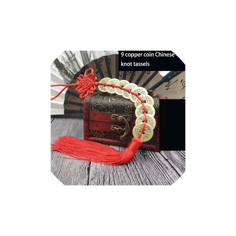 12Pc Tassel Chinese Knot Tassels Decor Tassel Pendant DIY Ornaments,9 Copper Coin by HKbeaty tassels