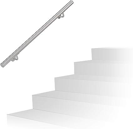 Dancal Rampe descalier Main Courante en Acier Inoxydable de 100 cm Main Courante