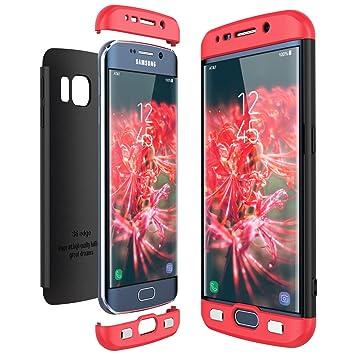 CE-Link Funda Samsung Galaxy S6 Edge, Carcasa Fundas para Samsung Galaxy S6 Edge, 3 en 1 Desmontable Ultra-Delgado Anti-Arañazos Case Protectora - ...