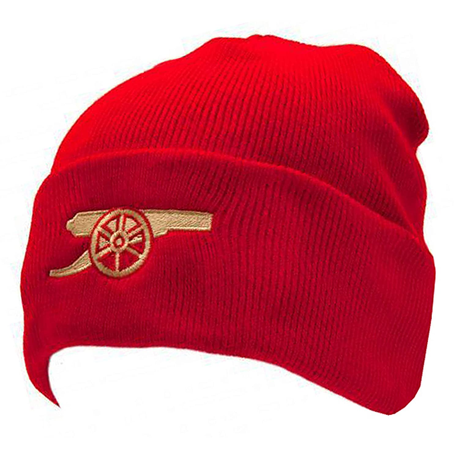 514b9e70664 Amazon.com  Arsenal FC Official Gunners Cuff Knitted Hat (One Size) (Red Gold)   Clothing