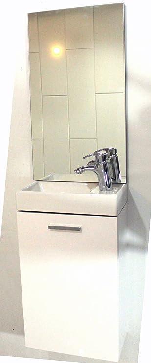 Attraktiv Mini Waschplatz Für Gäste WC Waschtisch Spiegel Softclose Tür Schrank 40 Cm  Handwaschbecken