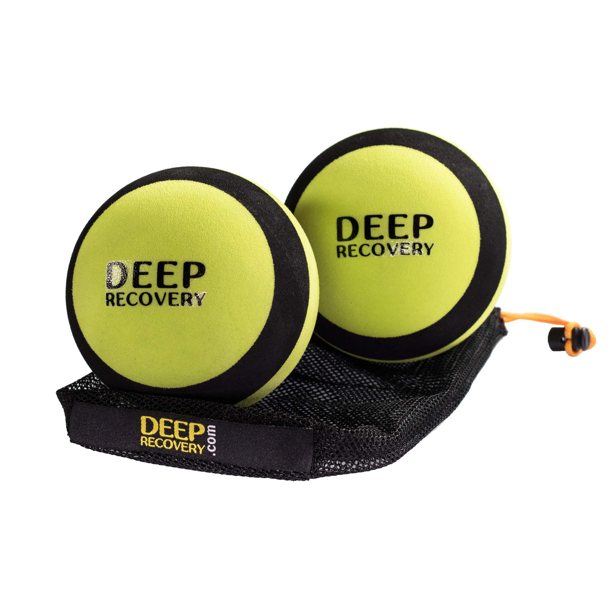 Deep Recovery 4 inch Diameter Massage Ball Set for Lower Back and Large Muscle Groups