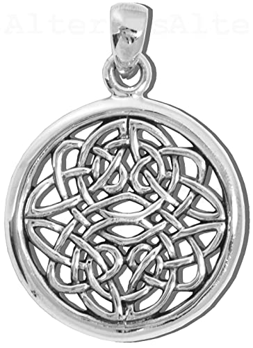 Alterras - Anhänger: Keltischer Liebesknoten aus 925-Silber