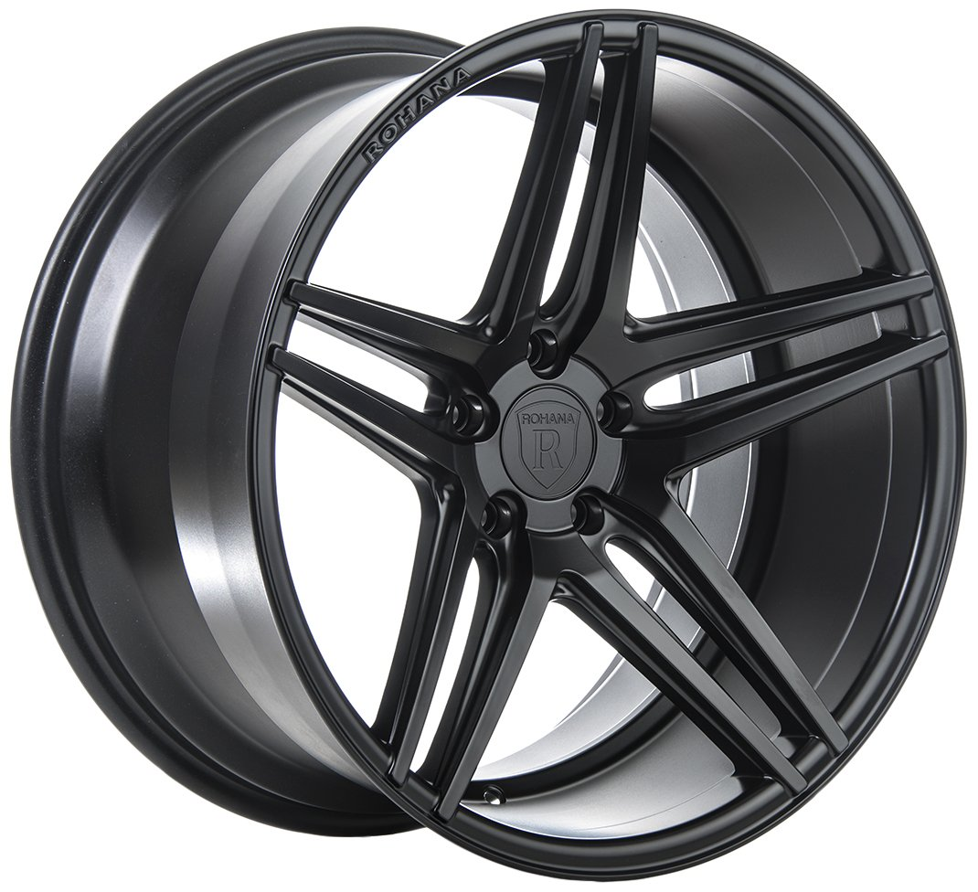 Rohana Wheels RC8 Black Wheel (20x9''/5x114.3mm, +22mm offset)
