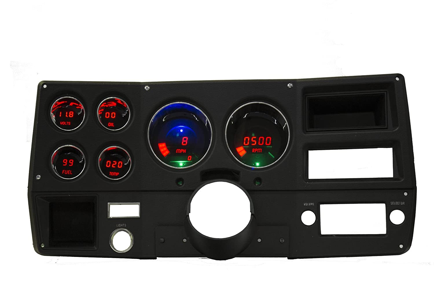 Intellitronix Led Digital 73 87 Chevy Truck Replacement 1960 C10 Wiring Harness Gauge Panel Red Automotive