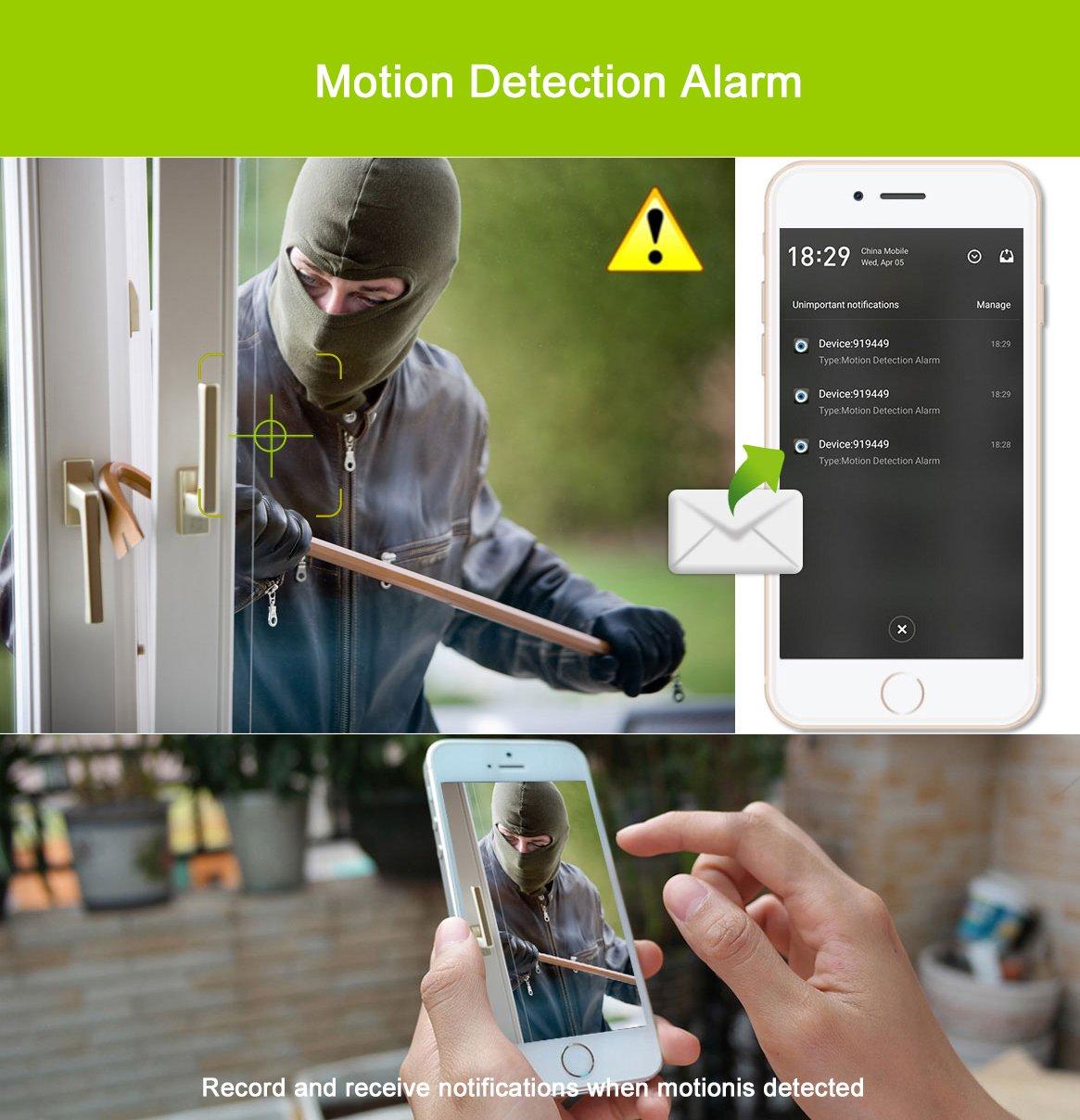 Sricam Exterior Cámara de vigilancia WiFi/Ethernet Cámara IP Dom 720P Alarma de Movimiento Visión Nocturna Impermeable App y Manual en español Sricam App ...