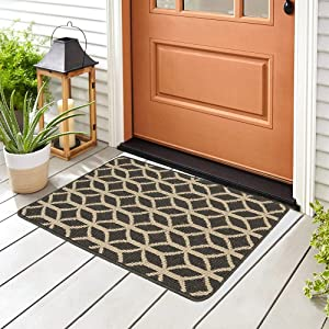 Doormat Outdoor Indoor Home Mat Non Slip Waterproof Washable Quickly Absorb Moisture and Resist Dirt Rugs for Door Entrance, Kitchen, Flat and Office (24