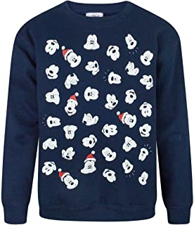 Mickey Mouse Disney Faces Boy's Christmas Sweatshirt