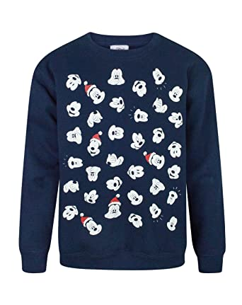 disney mickey mouse faces boys christmas sweatshirt 5 6 years