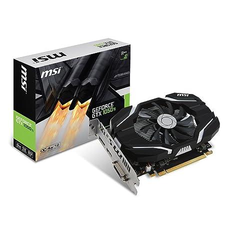 MSI GeForce GTX 1050 Ti 4G OC - Tarjeta gráfica, 4 GB, memoria GDDR5, color negro