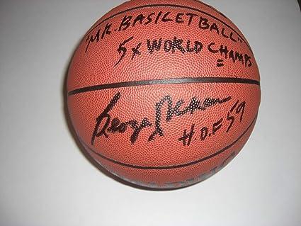45433299b11 George Mikan Lakershof 59Mr Basketball5X Champs Sports Memorabilia ...