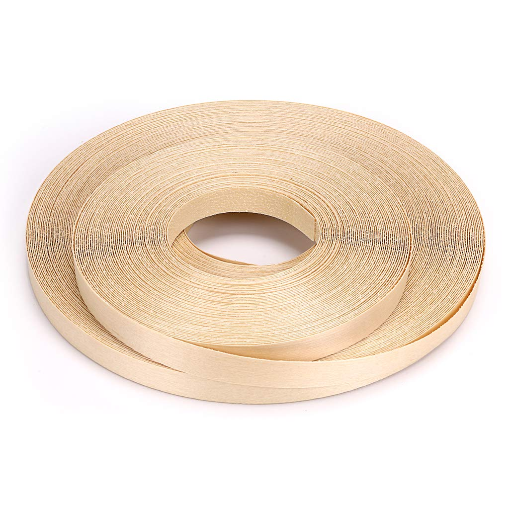 Skelang Birch 3/4'' X 260' Roll Wood Veneer Edgebanding Preglued Iron-on with Hot Melt Adhesive Edgebanding Flexible Wood Tape