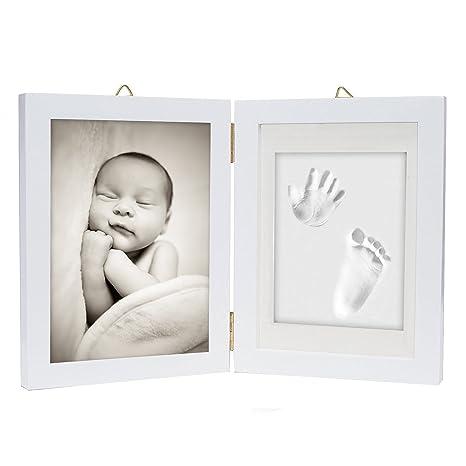 Kit de marco para impresión de pies y manos de bebé – Arcilla de impresión suave