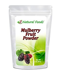 Mulberry Fruit Powder - 1 lb - Amazing Superfood Berry For Smoothies, Tea, Juice, Baked Goods, & Recipes - Raw, Vegan, Non GMO, Gluten Free, & Kosher