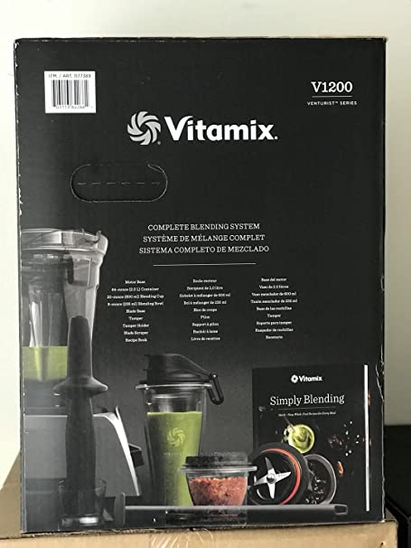 Amazon.com: Slate V1200 SELF-DETECT Blender with 64oz(2L) Container+20oz(600ml) Blending Cup+8oz(235ml) Blending Bowl+ Blade Base: Kitchen & Dining