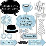 Winter Wonderland - Winter Wedding Photo Booth Props Kit - 20 Count