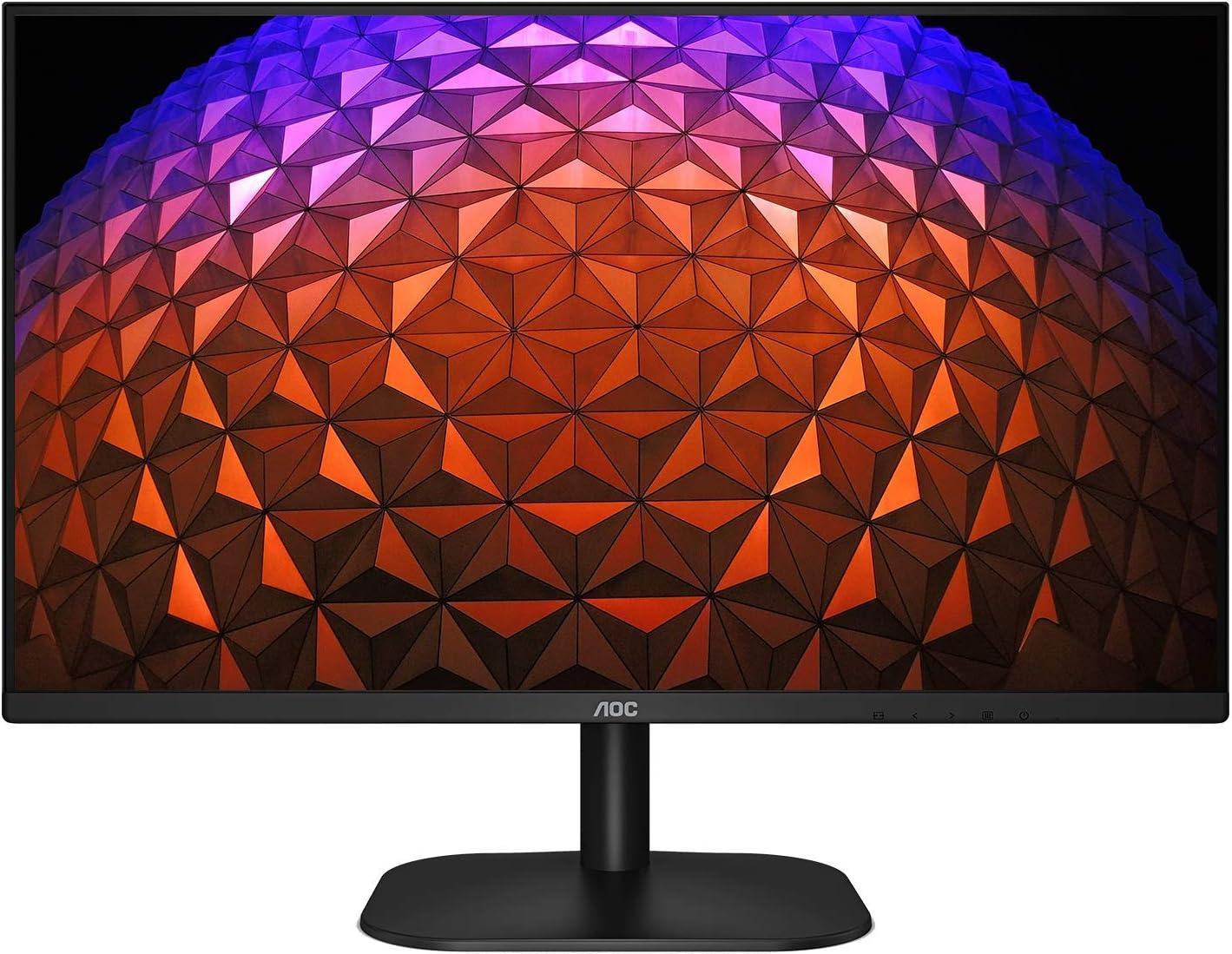 "AOC 27B2H 27"" Full HD IPS Monitor, 3-Sided Frameless & Ultra Slim Design, HDMI and VGA inputs, Lowblue Mode, VESA compatible,Black"