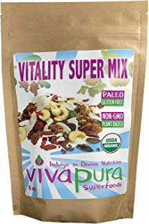 product image for Vitality Super Mix Trail Mix, Raw, Organic, 8oz, Compostable Bag