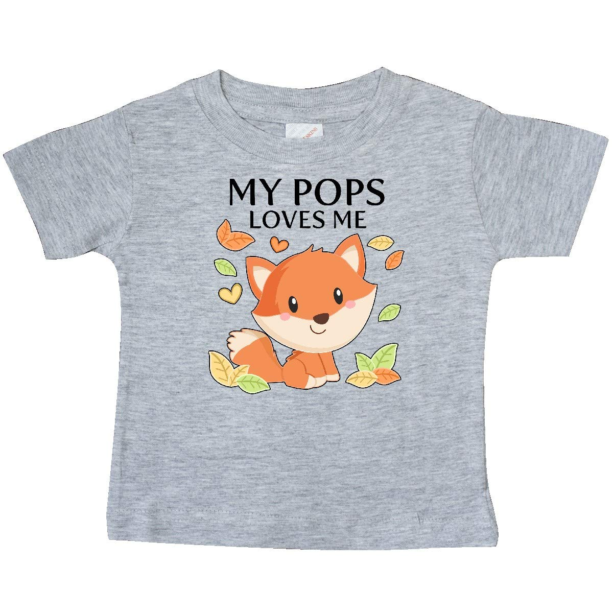 inktastic My Pops Loves Me Little Fox Baby T-Shirt