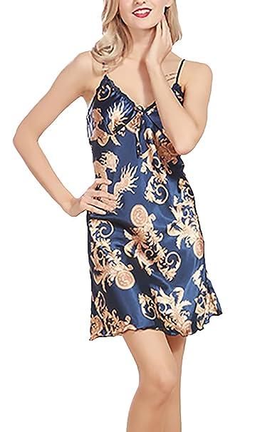 Pijama Mujer Verano Cortas Elegante Tirantes V Cuello Lencería Pijamas Impresión Floral Moda Ropa Dama Moda
