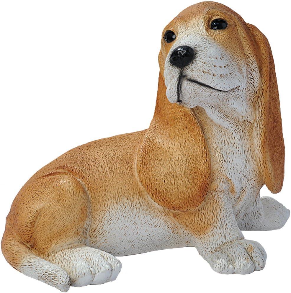 Design Toscano Brown Basset Puppy Dog Statue, Multicolored