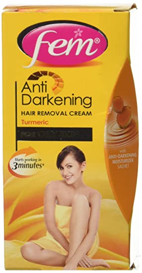 Fem Anti Darkening Hair Removal Cream For Women (Turmeric) - 25 g