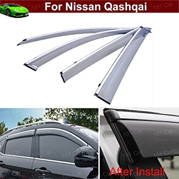 New Chrome Window Vent Rain Guard Sun Visor Molding Trim for Kia Optima 2016