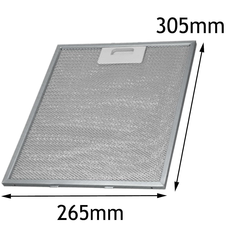 Spares2go in alluminio per grasso rete filtro per Whirlpool cappa fan Vent (305 x 265 mm) Fitment List A