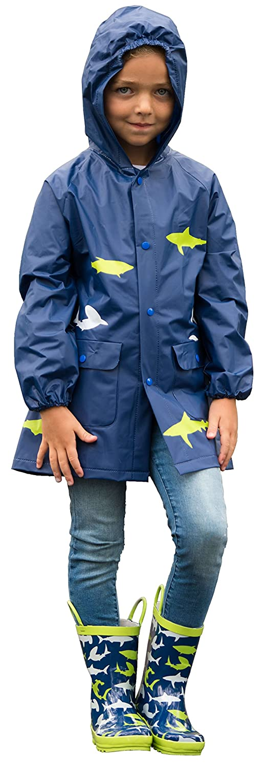 Lilly of New York Kid's Rain Jacket: Rain Coat for Boys, Girls & Toddlers, with Fun Colorful Prints, Little Or Big Kids