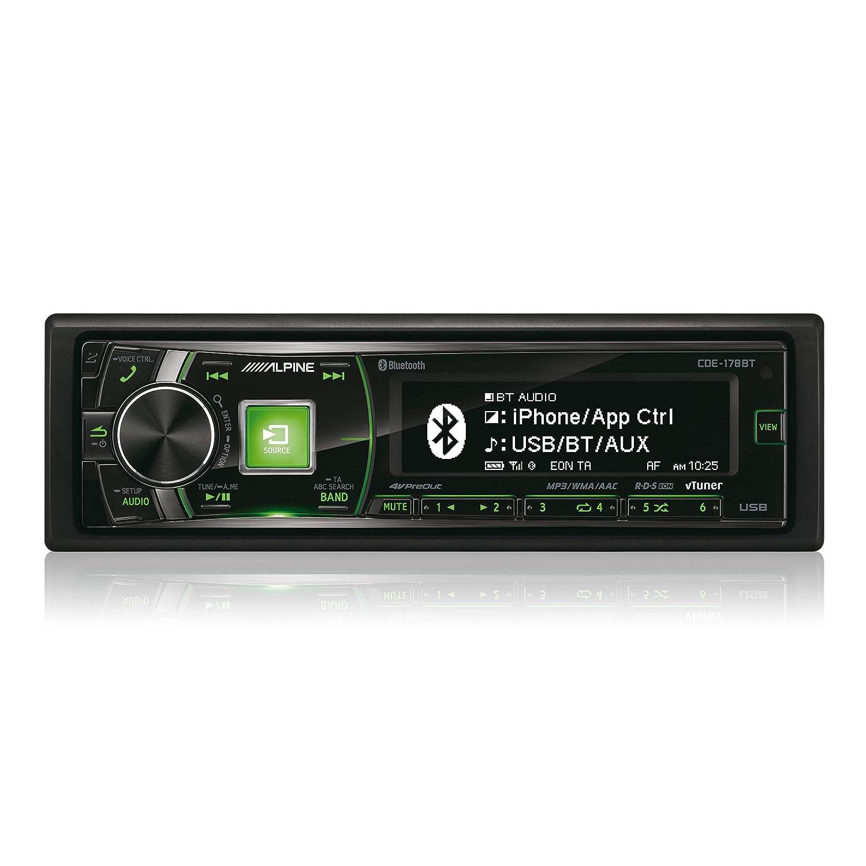 Bluetooth Alpine CDE-178BT Ricevitore multimediale per auto Nero