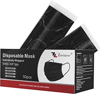 50-Pack Zoemose Disposable Face Masks