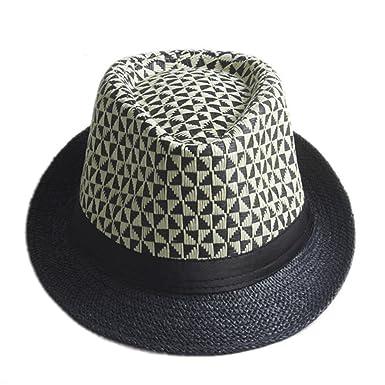 2bb1cfacf Amazon.com: ylovego Women Summer Straw Sun Hat Boho Beach Fedora Hat ...