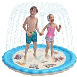 Sable Splash Pad, Sprinkler for Kids, 68 Inches Wading Pool for Learning, Water-Filled Play Mat Sprinkler Pool, Inflatable Wa