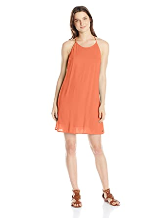 dc206bf592 Roxy Juniors' Passing Sky Solid Tank Dress at Amazon Women's Clothing store: