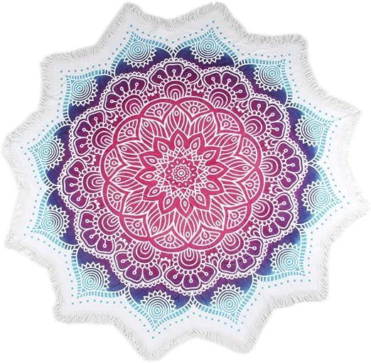 Hip - Toalla de Playa Helena, Redonda, 160 cm, Multicolor, algodón ...
