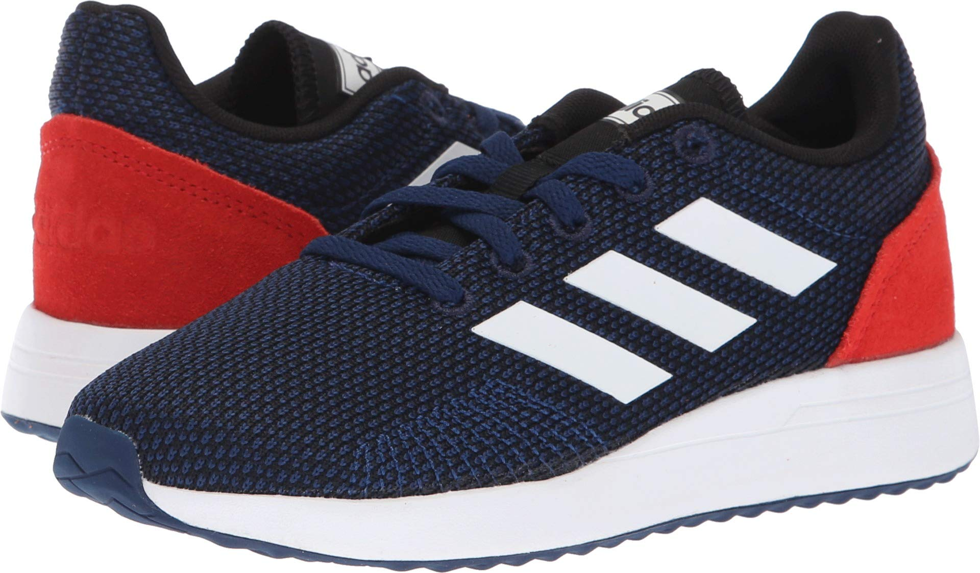 adidas Unisex Run70S Running Shoe, Dark Blue/White/hi-res red, 5 M US Big Kid