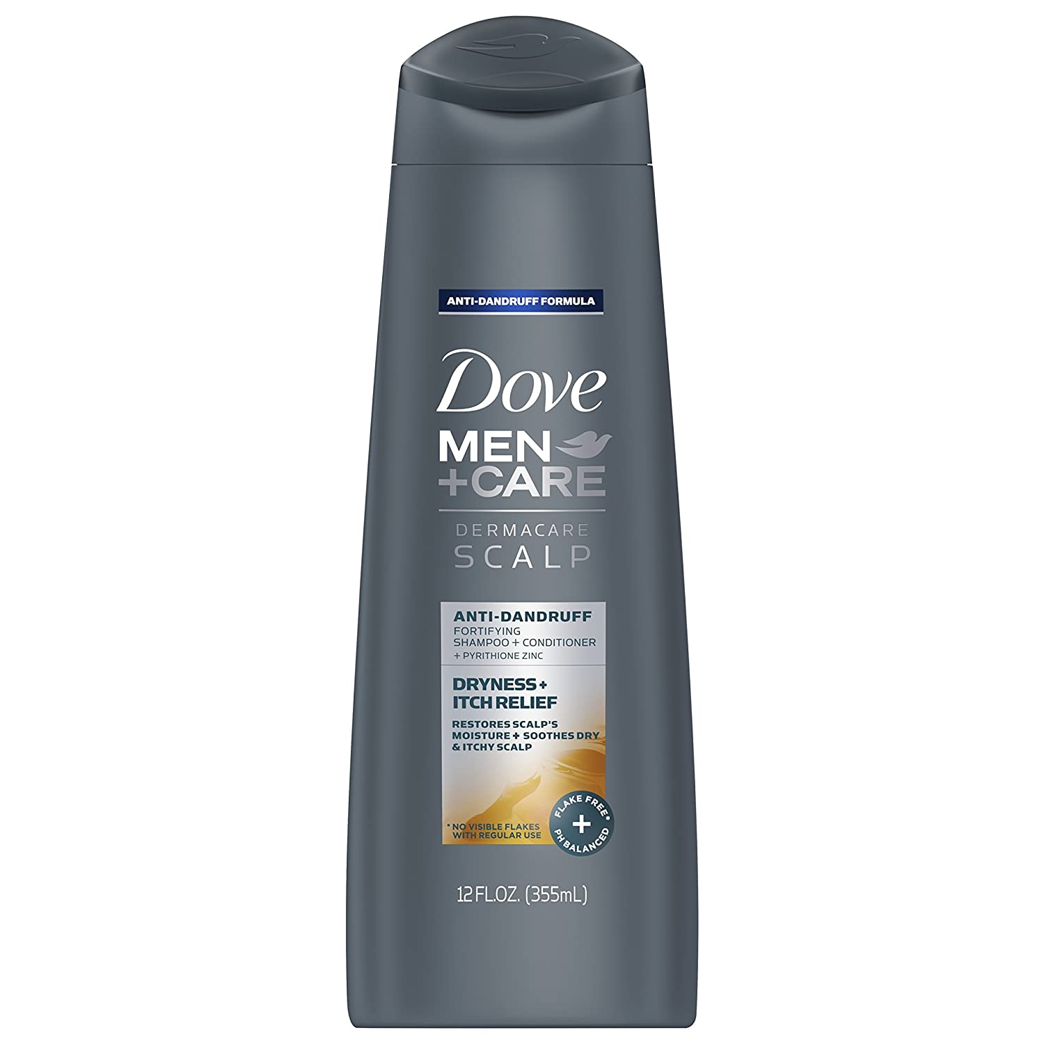 Dove Men + Care 2-in-1 Itch Relief Shampoo and Conditioner 12oz, pack of 1