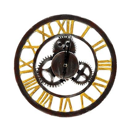 blesiya moderno 3d Wall Clock Reloj de pared números romanos reloj digital de madera accesorios para