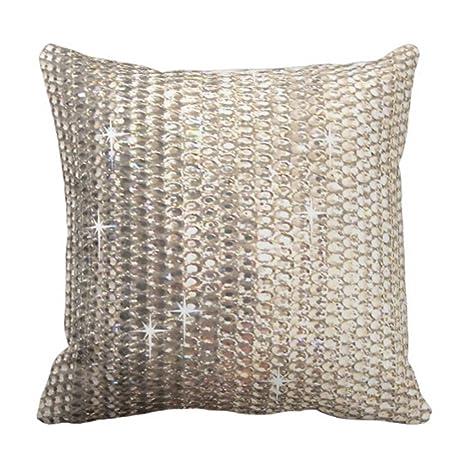 Amazon Emvency Throw Pillow Cover Gold Rhinestone Design Best Rhinestone Decorative Pillows
