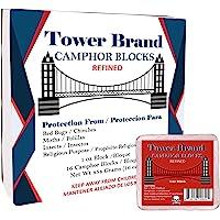 ELP ESSENTIAL Tower Brand Camphor Blocks Refined 1oz 16 Tablets