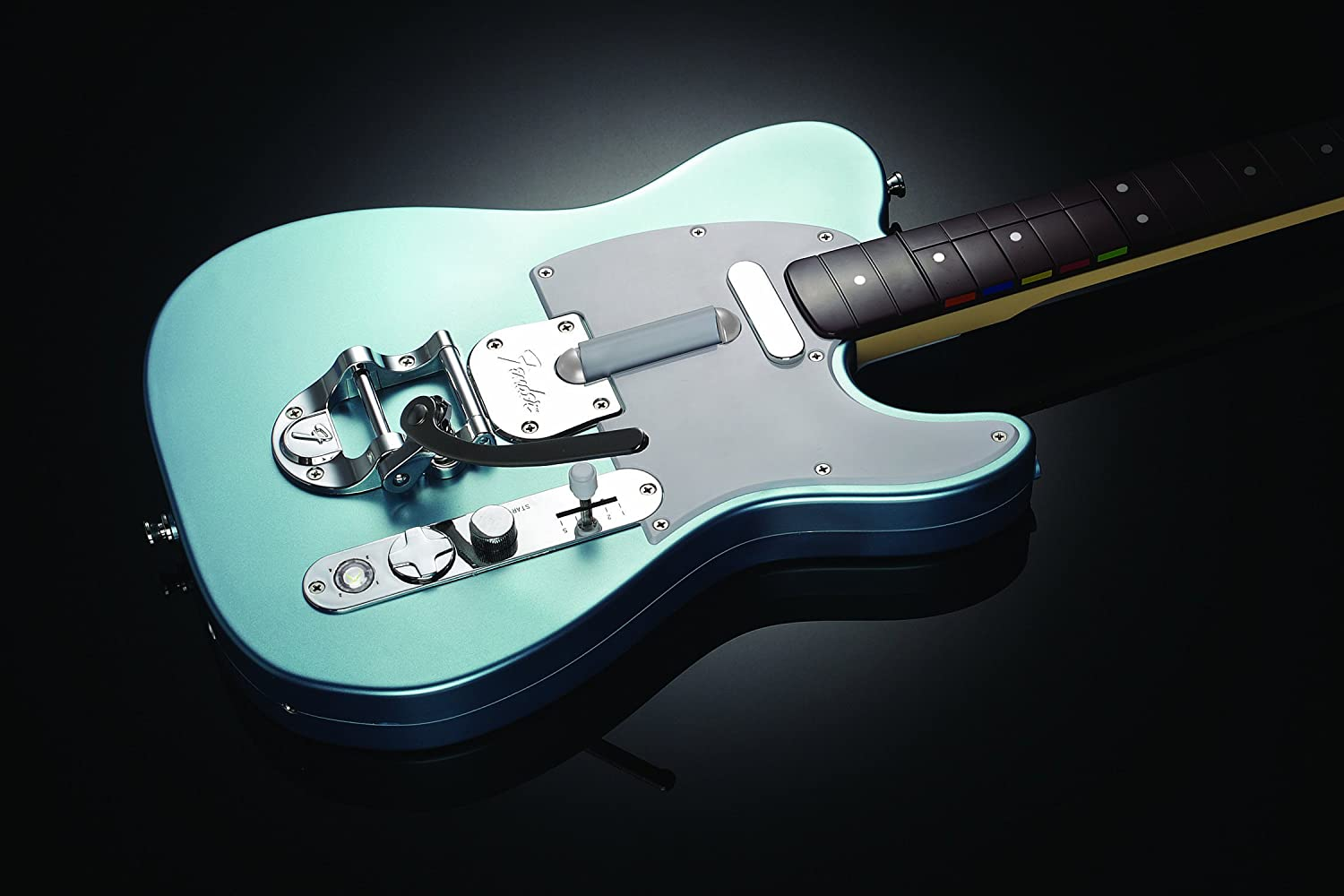 Xbox 360 Rock Band 3 Wireless Fender Telecaster Players Guitar Hero Wiring Diagram Edition Light Blue Video Games