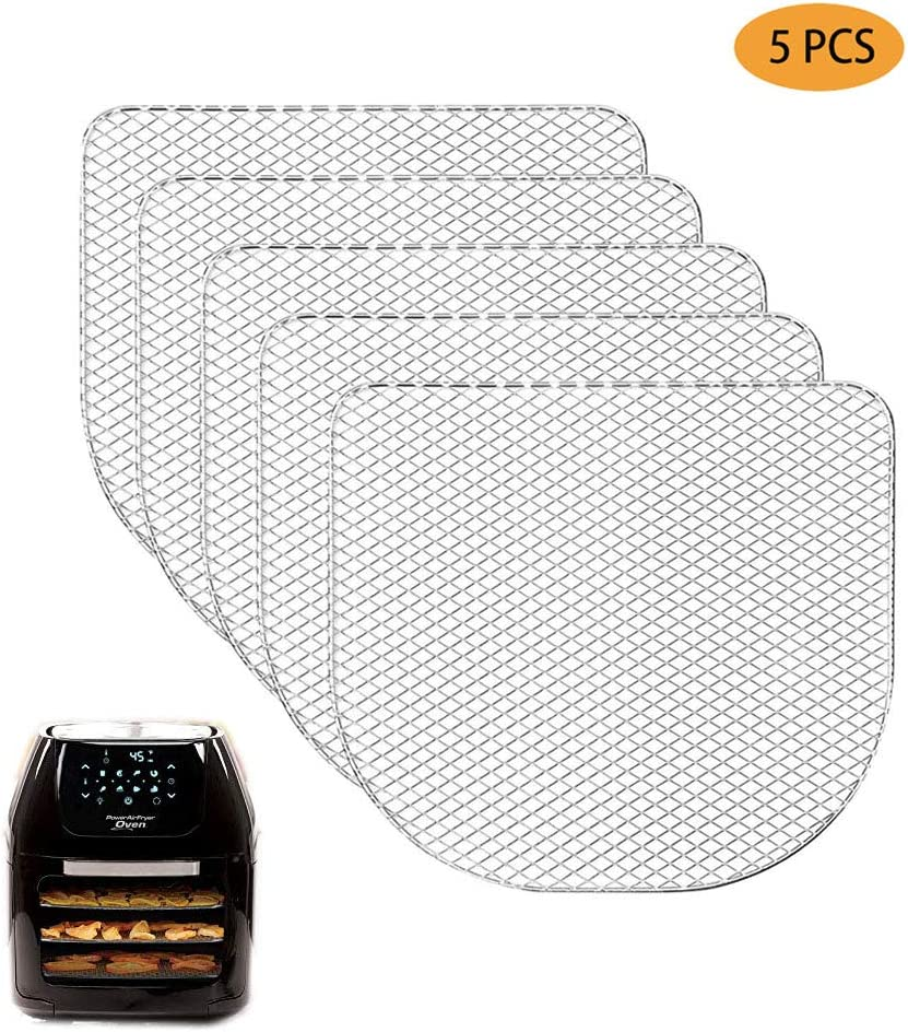 5Pcs Dehydrator Racks Compatible for Power Air Fryer Oven,Chefman, Caynel,6qt Air Fryer Oven Accessories,Dehydrate Fruits and Meats,Air Flow Racks,Dehydrating tray