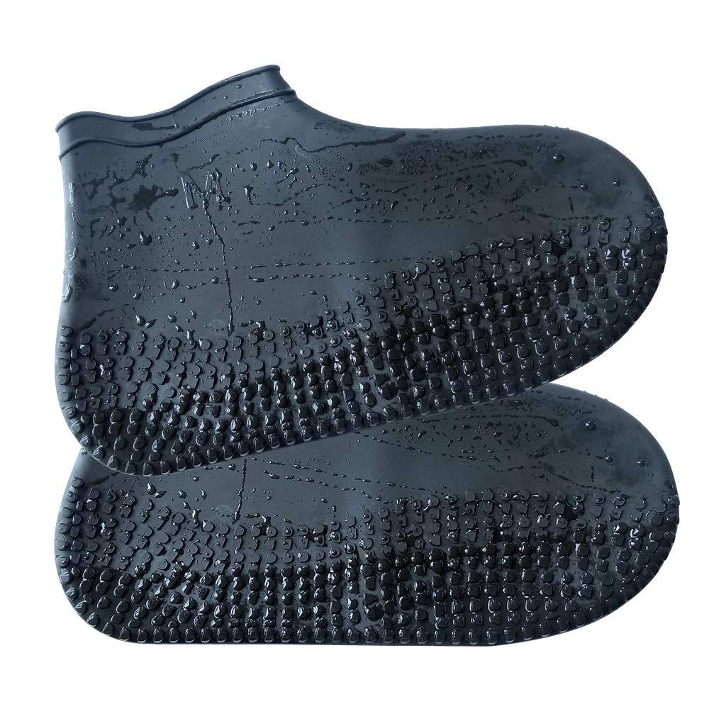 Shackcom Couvre-chaussures en Silicon Imperm/éable Antid/érapante R/éutilisable Lavable pour Hommes Femmes Enfants Activit/és en Plein Air Camping P/êche V/élo Randonn/ée aux Jours Pluvieux et Neigeux