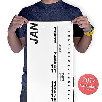 Amazon.com : Vertical Calendar large Minimal Wall Calendar for ...
